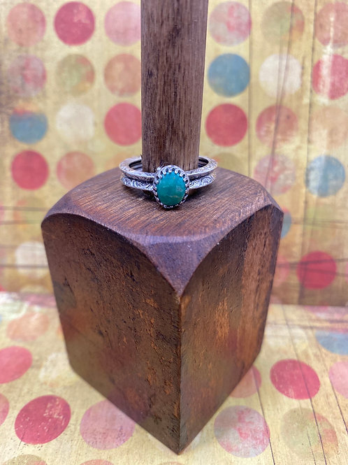 Morning Star Turquoise Ring (Size 8 1/2) - GN