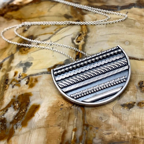 Sterling Silver Linear Pendant