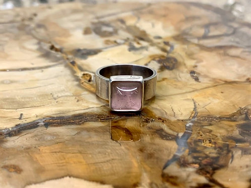 Pink Glass Ring (Size 6)
