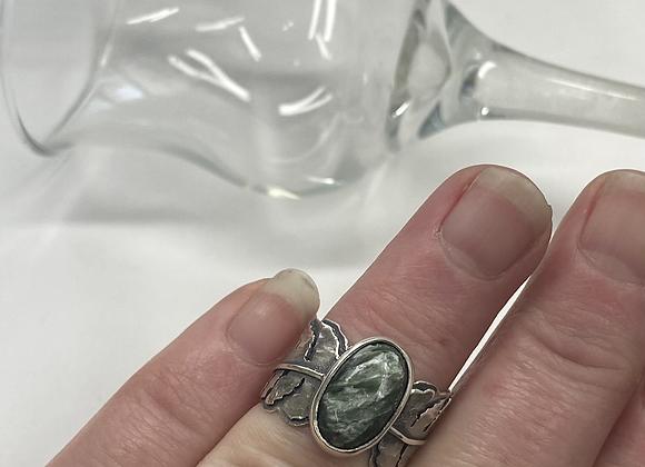 Seraphinite Fern Ring