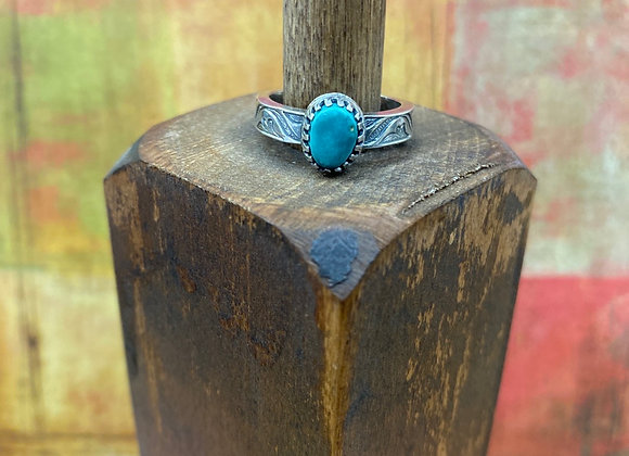 Morning Star Turquoise Ring (Size: 6 1/2) - GN