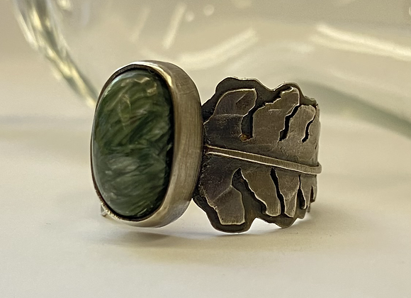 Seraphinite Fern Ring