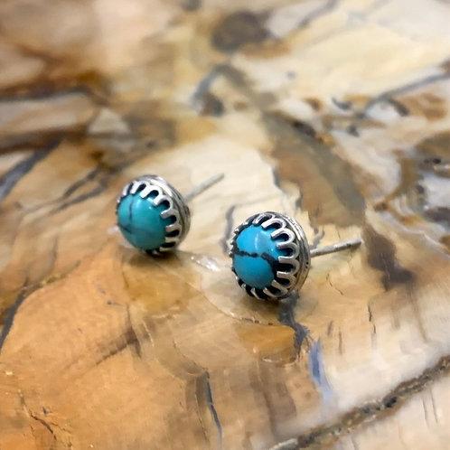Kingman Turquoise Stud Earrings