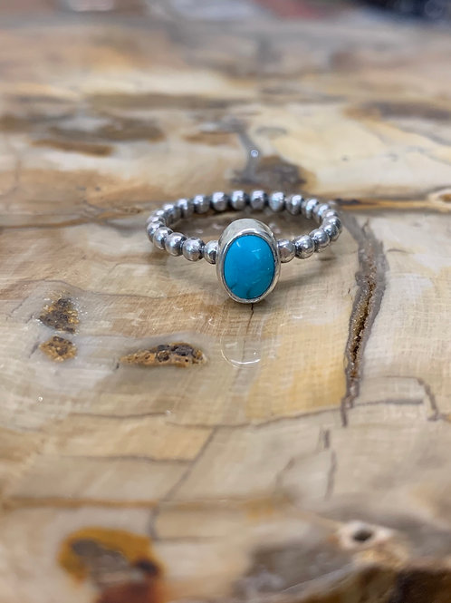 Cloud Mountian Turquoise Ring (Size: 5 3/4)