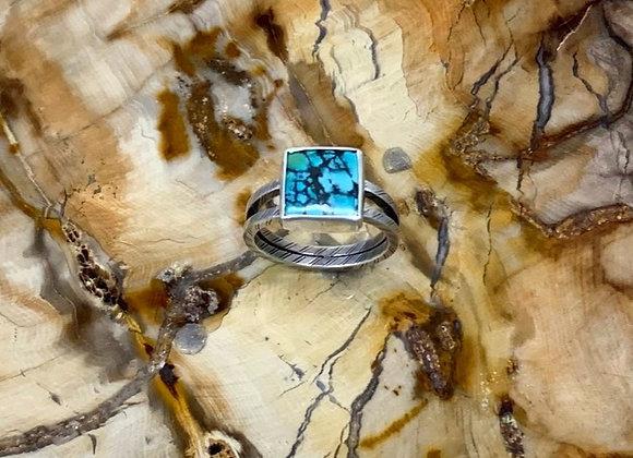 Hubei Turquoise Ring (Size: 6 3/4)
