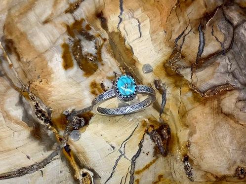 Kingman Turquoise Ring (Size 10)