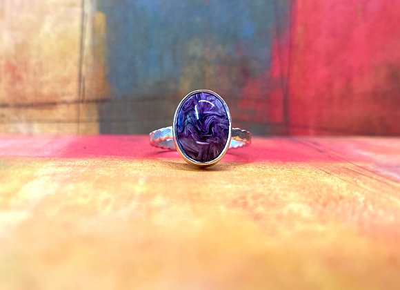 Charoite Ring (Size : 7)