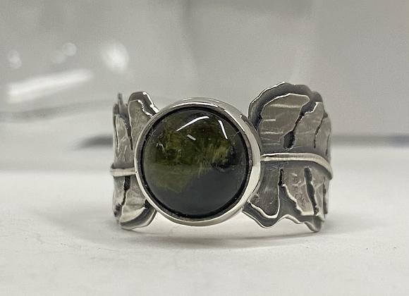 Green Tourmaline Fern Ring