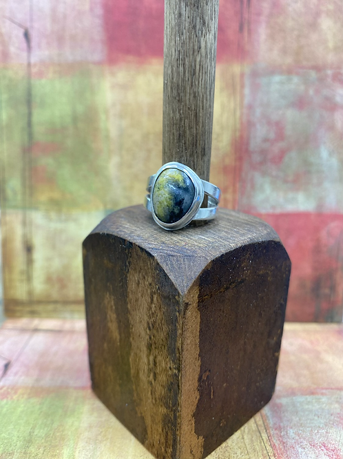 Ocean Jasper Ring (Ring Size: 8 3/4) GN