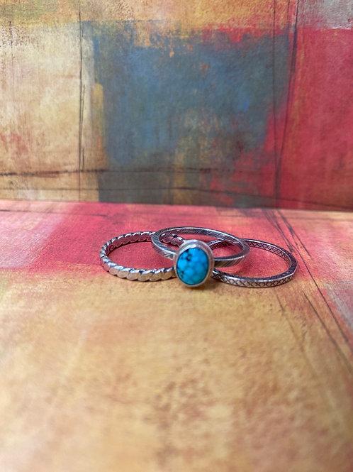 Kingman Turquoise Ring (Size 6 3/4) - GN