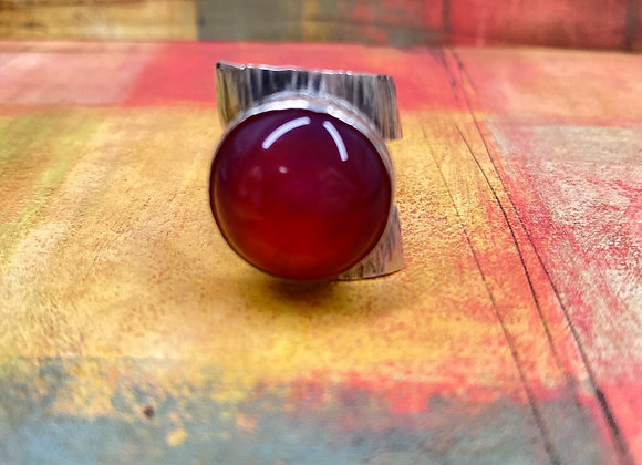 Red/Purple Glass Ring (Size: 6) - GN