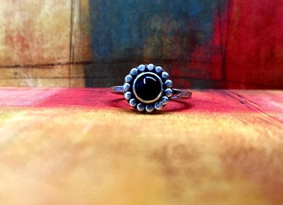 Black Onyx Ring (Size 8)