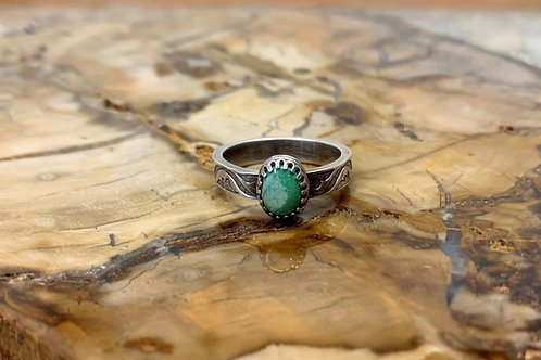 Morning Star Turquoise Ring (Size 7 1/2)