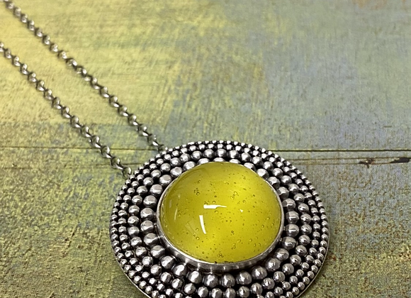 Yellow Glass Pendant