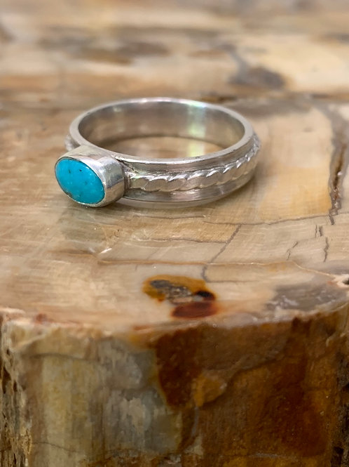Cloud Mountain Turquoise Ring (Size: 9 1/2)