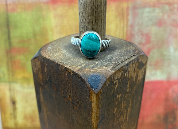 Malachite Ring (Size: 6) - GN