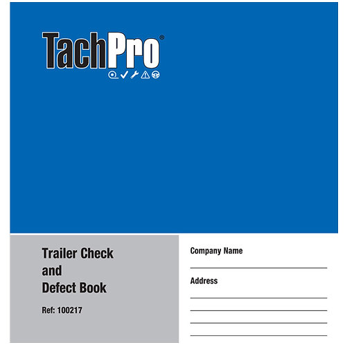 TACHPRO TRAILER DAILY DEFECT REPORT BOOK – 50 DUPLICATE PAGES 100217