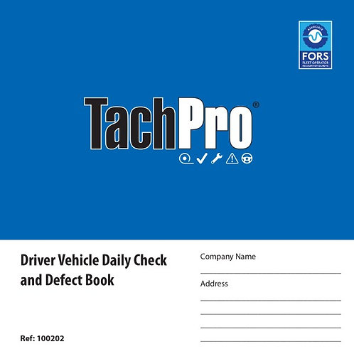 50 PAGE VEHICLE DAILY CHECK & DEFECT BOOK DUPLICATE
