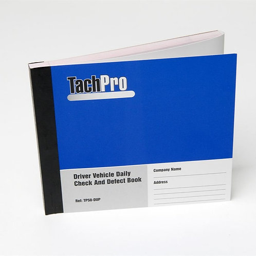 TachPro Daily Check And Defect Book