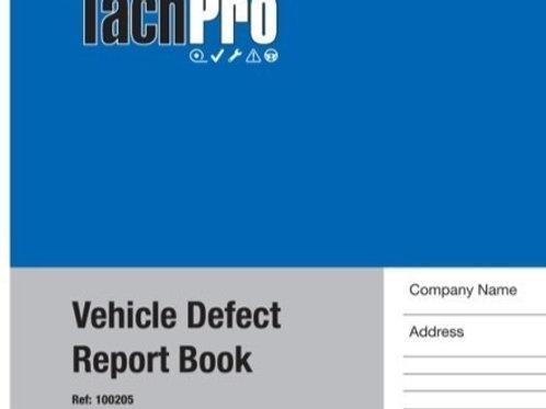 VEHICLE DEFECT REPORT BOOK