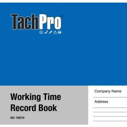 TACHPRO WORKING TIME RECORD BOOK – 26 DUPLICATE PAGES 100216