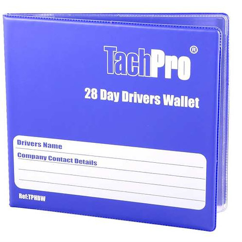 TACHPRO 28 DAY HARDBACK DRIVERS WALLET