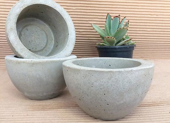 trio vaso de concreto cuia mini