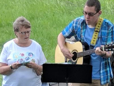 Cinda and Lucas special music at Camp Ma