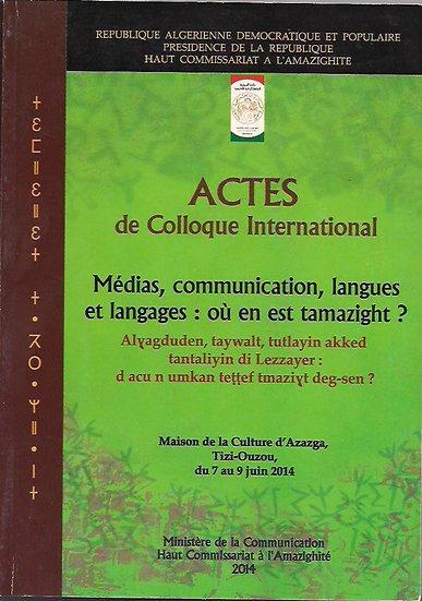 Médias, communication, langues et langages: où en est tamazight?