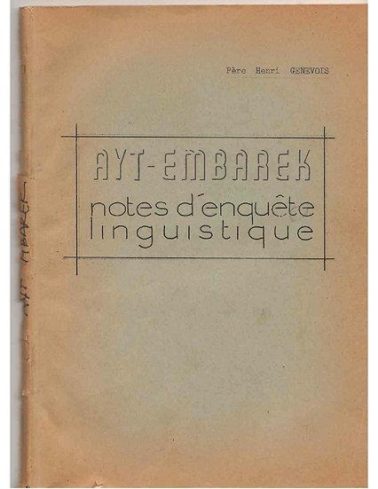 Ayt-Embarek: notes d'enquête linguistique