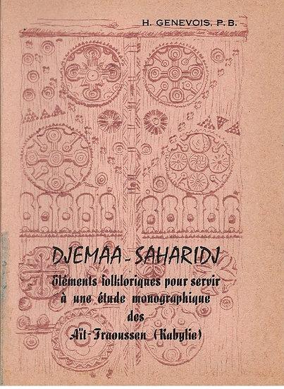 Djmaa-Saharidj: éléments folkloriques ...