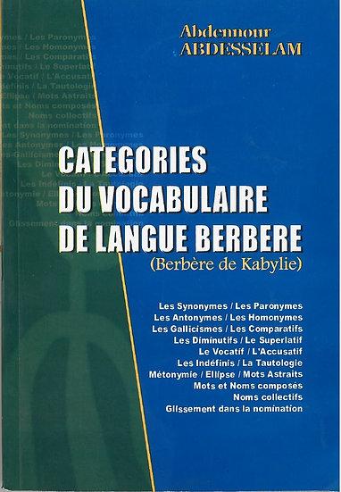 Catégories du vocabulaire de langue berbère