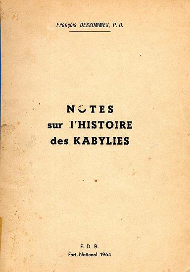 Notes sur l'Histoire des Kabylies