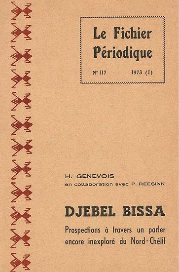 Djebel Bissa: prospections à travers un parler Nord-Chélif