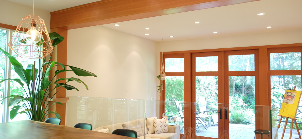 townhome - dinning lighting and speakers