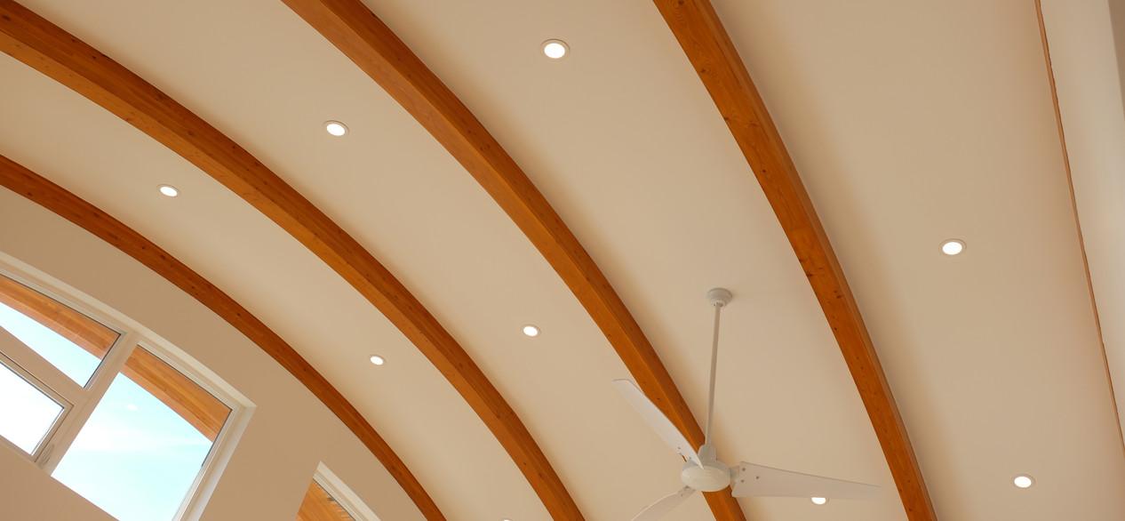 float home - finished living room lighting