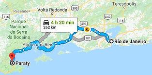 Rio de Janeiro to Paraty map