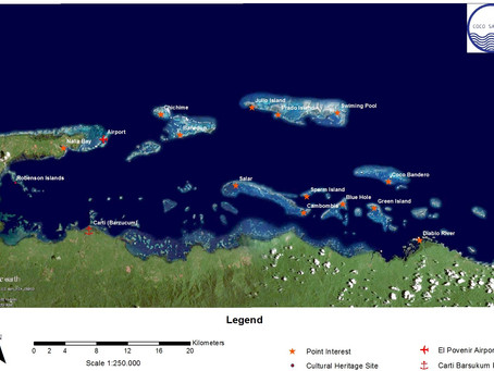 San Blas islands Map