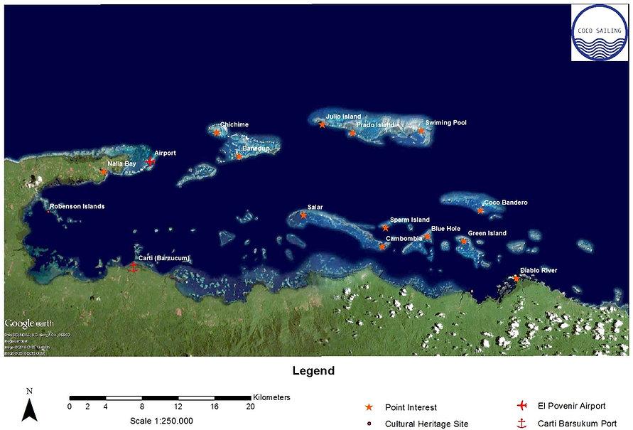 San Blas Island Map