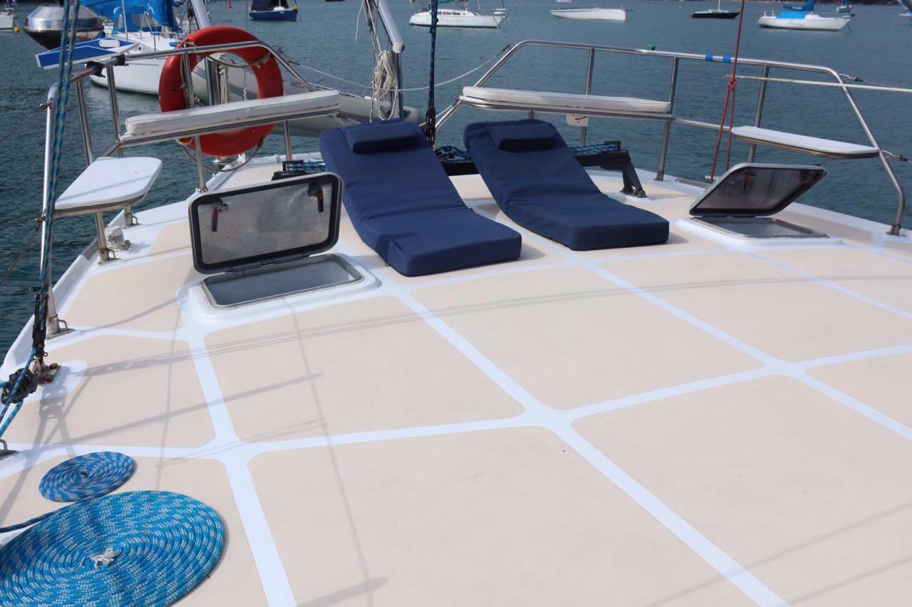 Deck on stern