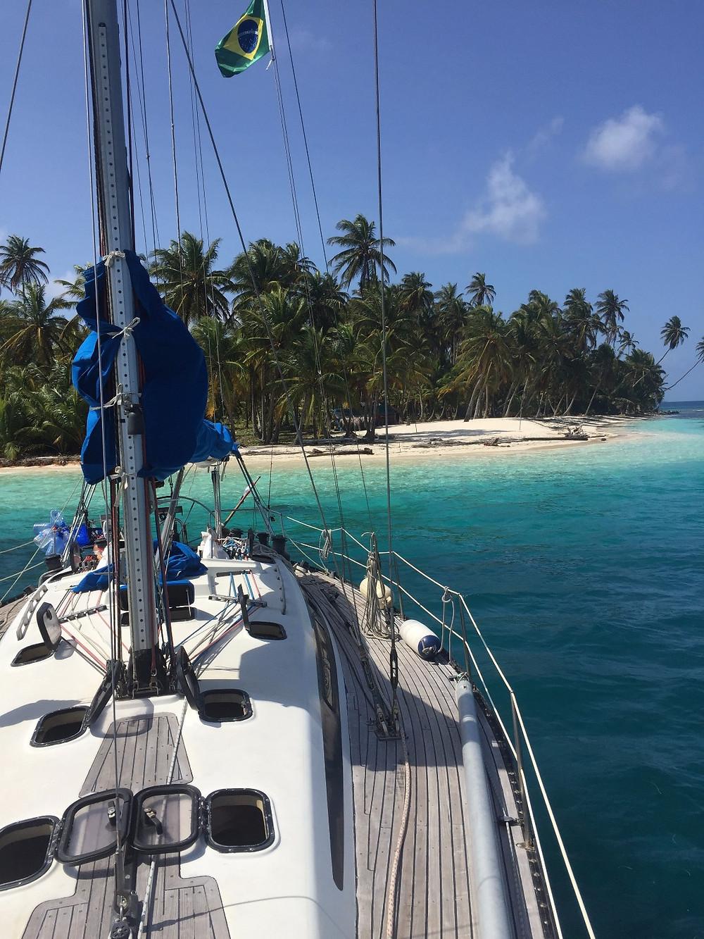 Sailboat in San Blas Islands
