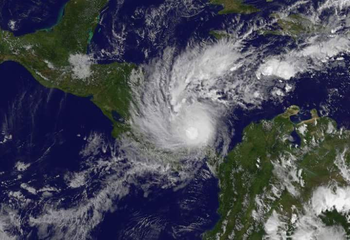 Hurricane Otto from the space
