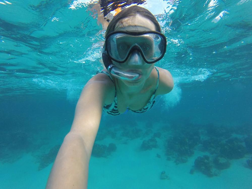 Snorkeling in the reef