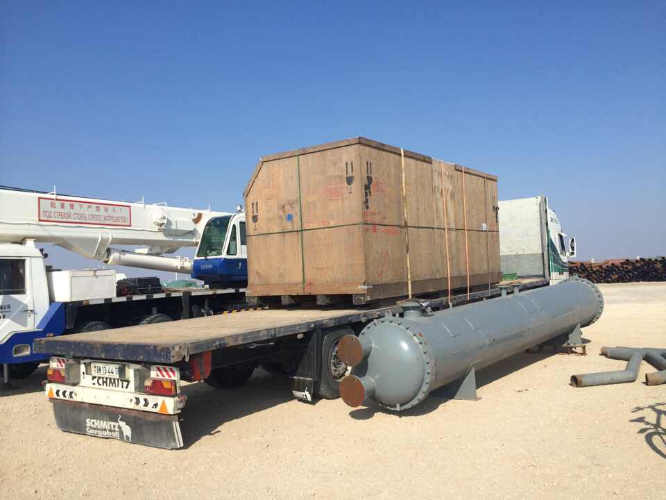 jobsite Turkmenistan, under offloading