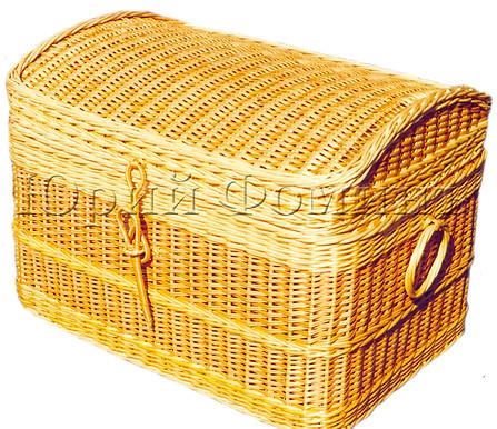 Плетеный сундук для игрушек