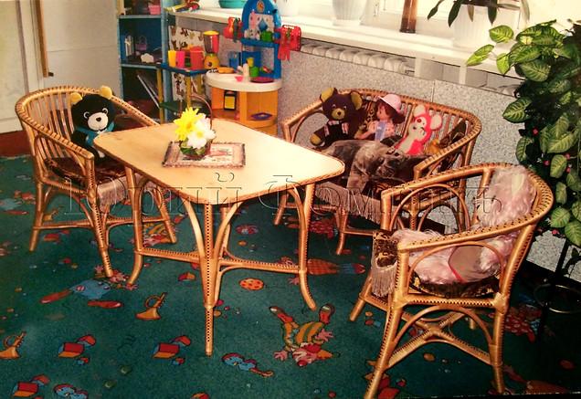 плетеный детский гарнитур
