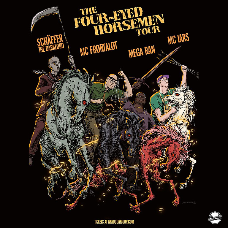 THE FOUR-EYED HORSEMEN: MC Lars/Mega Ran/MC Frontalot/Schaffer The Darklord