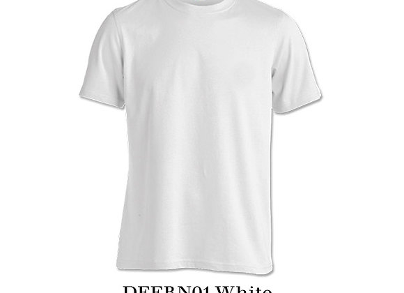 White Unisex Dri-Fit Round Neck