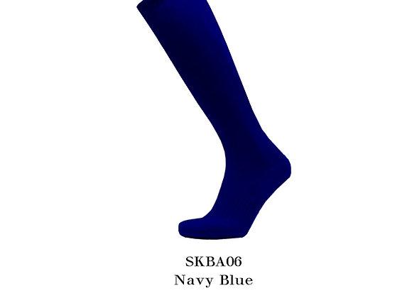 Navy Blue Sports Knee Basic Socks
