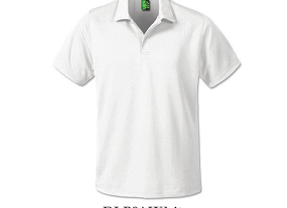 White Unisex Dri-Fit Polo